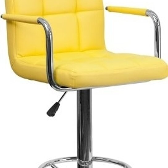 Buy 2 pk contemporary yellow quilted vinyl adjustable for Affordable furniture 6496 redland