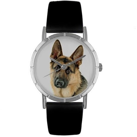 Buy german shepherd photo watch in silver small by for German made bathroom accessories