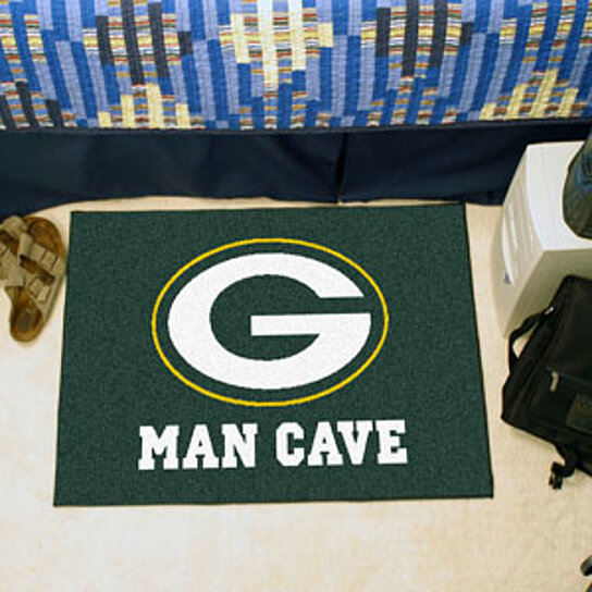 Buy NFL Green Bay Packers Man Cave Starter Rug 19 X30