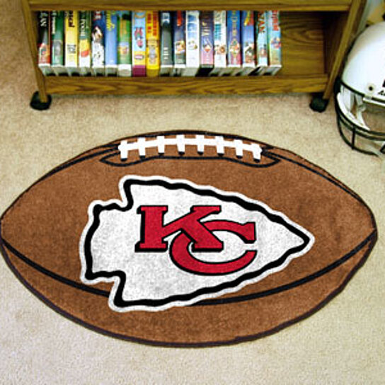 buy nfl kansas city chiefs football rug 22 quot x35 quot by