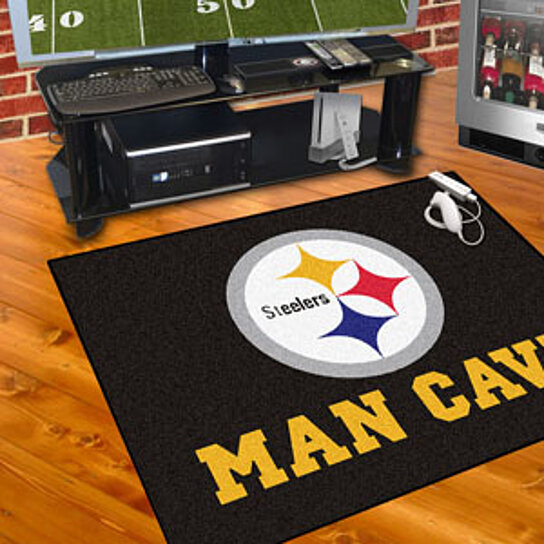Buy nfl pittsburgh steelers man cave all star mat 34 x45 for Affordable furniture pittsburgh