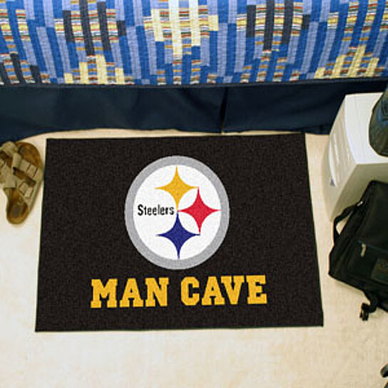 Steelers Man Cave Furniture : Buy nfl pittsburgh steelers man cave starter rug quot x