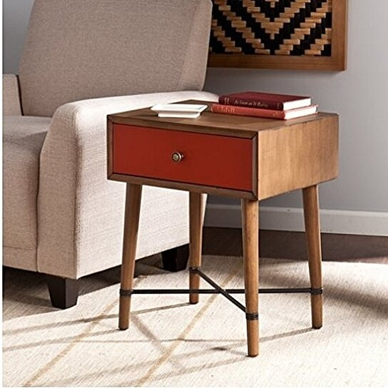 Buy Norwich Accent Table - Red by VirVentures on OpenSky
