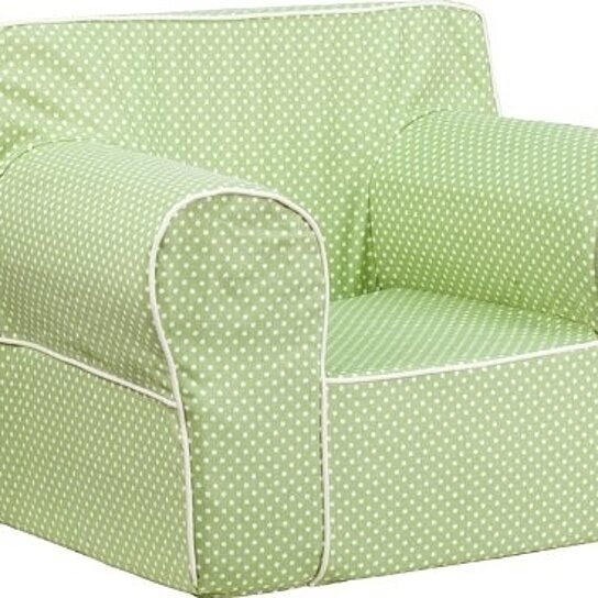 Buy oversized green dot kids chair with white piping by for Oversized kids chair