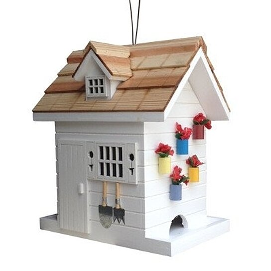 Buy potting shed bird feeder white by virventures on opensky for Buy potting shed