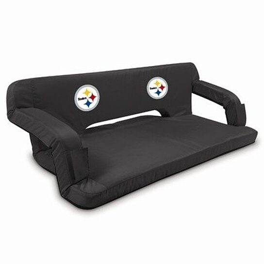 Buy reflex travel couch black pittsburgh steelers for Affordable furniture pittsburgh