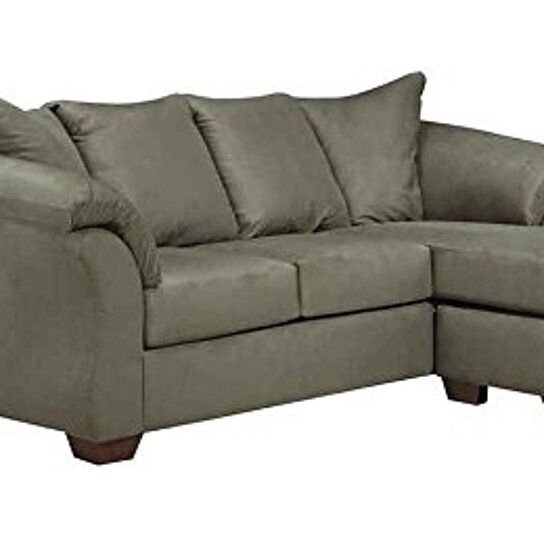 Buy signature design sofa chaise by ashley darcy in for Ashley microfiber sectional with chaise
