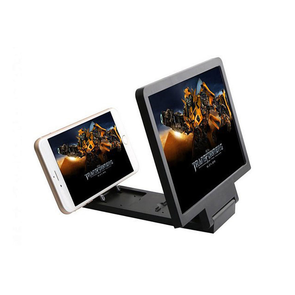 3D Screen Enlarger And Viewer For Your Smart Phone - Black 55ee69c7493d6fcd408b5b07