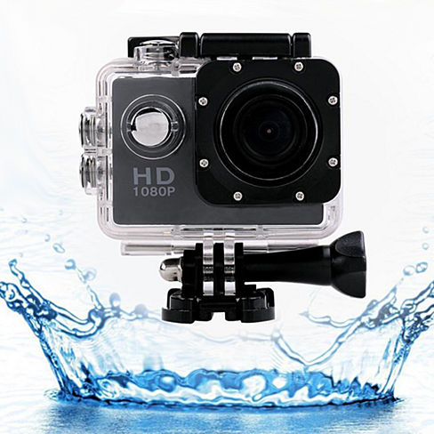 All PRO HD 1080P Action Sports Camera with Waterproof Accessory Pack