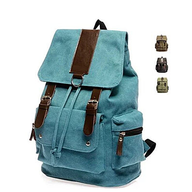 Back To Campus Canvas Backpack In 4 Colors