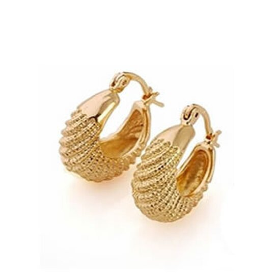 Golden Baskets Hoop Earrings In 18kt Gold Overlay By Vista S On Opensky