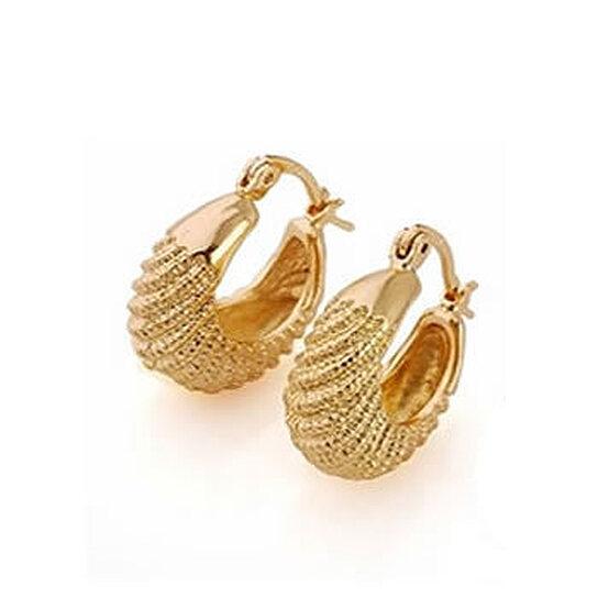 Golden Baskets Hoop Earrings In 18kt Gold Overlay By Vista S On Opensky