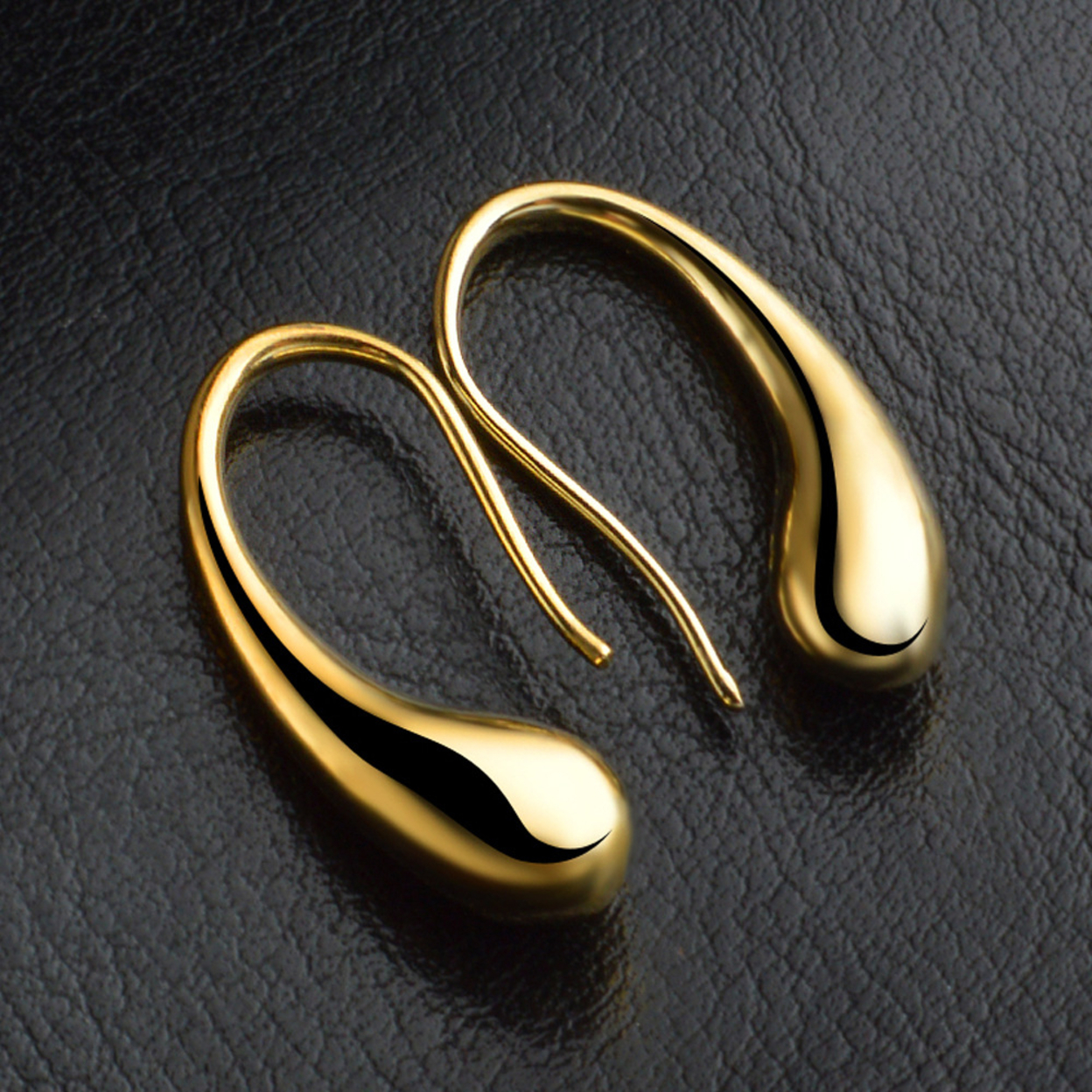 Charmer Hook Earrings In Gold And Silver Tone