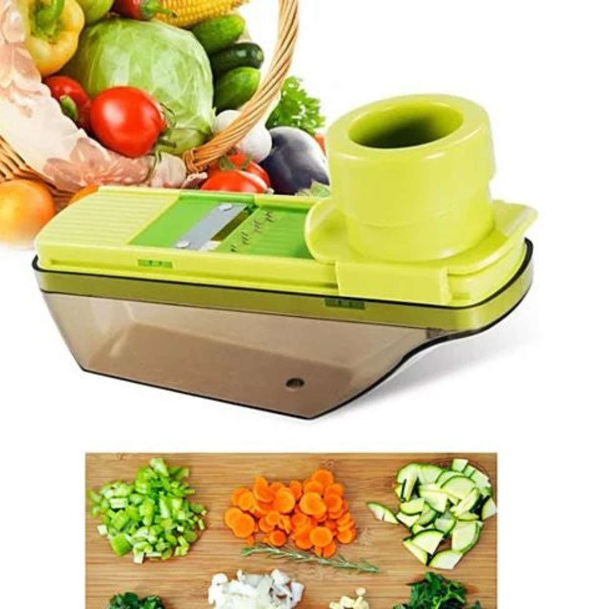 Veggie Lovers Compact Palm Sized Veggie Slicer And Mini Grater