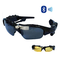 Bluetooth Headphone Sport Sunglasses with Microphone and Free Second Lens Kit
