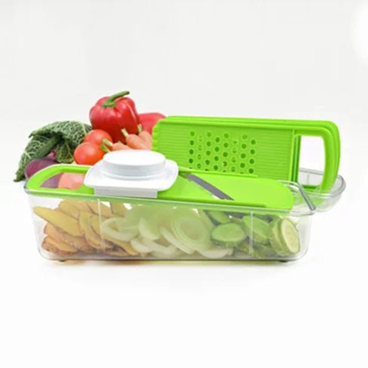 Go Green Veggie 4 in 1 Grinder Slicer Cutter And Shredder 56fc29546d3d6f1c298b48ba