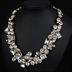 Hello Gorgeous Diamond Crystal Statement Necklace