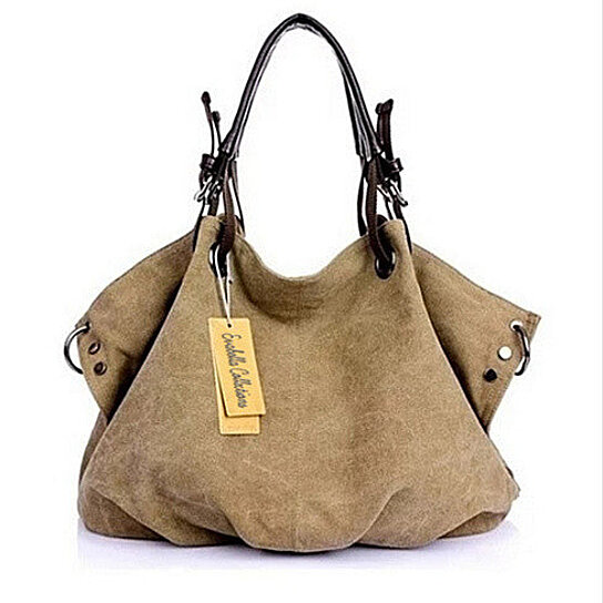 c9d4333da8ac Washed Canvas Slouch Satchel With Vegan Leather, Multiple Colors