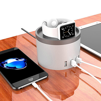 HomeBase Intelligent USB Charging Station for Smartphones, Tablets and Watches