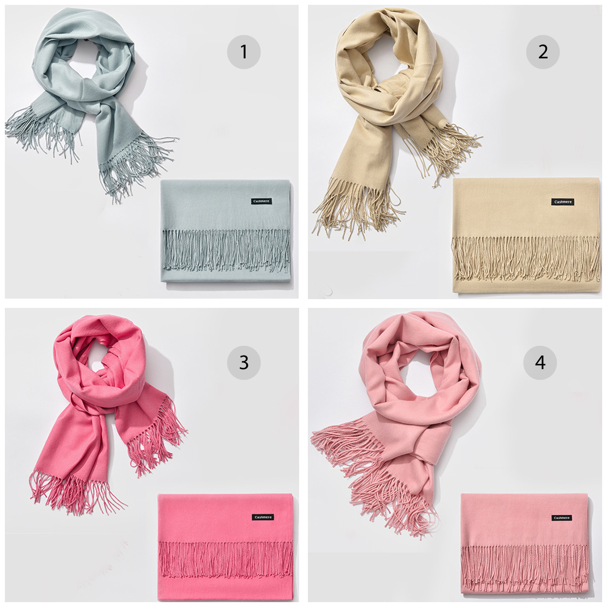LaVish Cashmere Wool Scarf For Warmth And Elegance - 1 - Light Gray 5a13babb927b0c56ac7c4db8