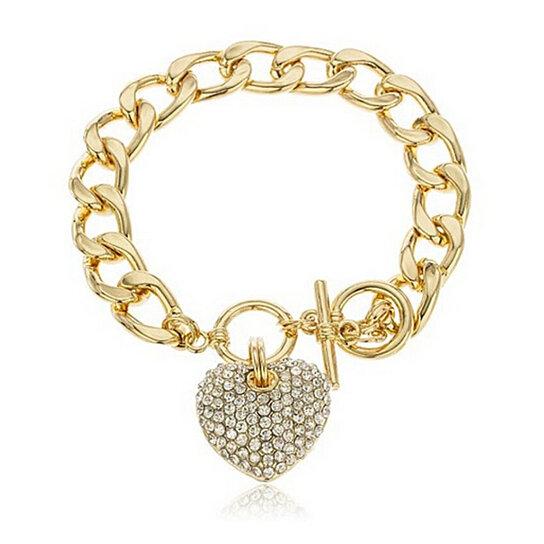 Italian Link Charm Bracelet: Buy Lock My Heart Charm Bracelet With Italian Style Cable