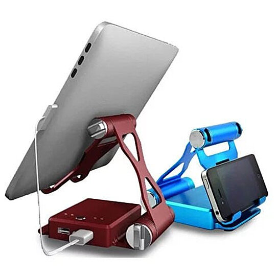 buy podium style 3 pc folding gadget stand with built in power bank by vista shops on opensky. Black Bedroom Furniture Sets. Home Design Ideas