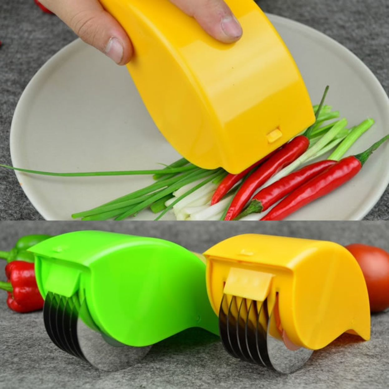 Quick Prep Chefs Cutter And Mincer Lime Green