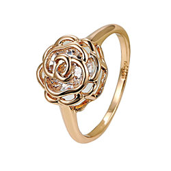 Rose Is A Rose Rings 18kt Rose Crystals In White Yellow And Rose Gold Plating