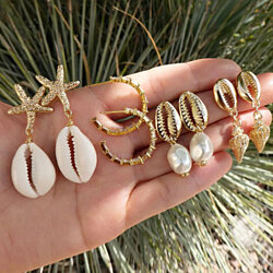 Riviera Set Of 4 Natural Earrings