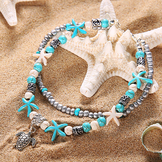 4d8e0a06f Trending product! This item has been added to cart 98 times in the last 24  hours. Sea Turtle Anklet