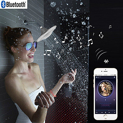 Rain Maker Showerhead and Bluetooth Speaker