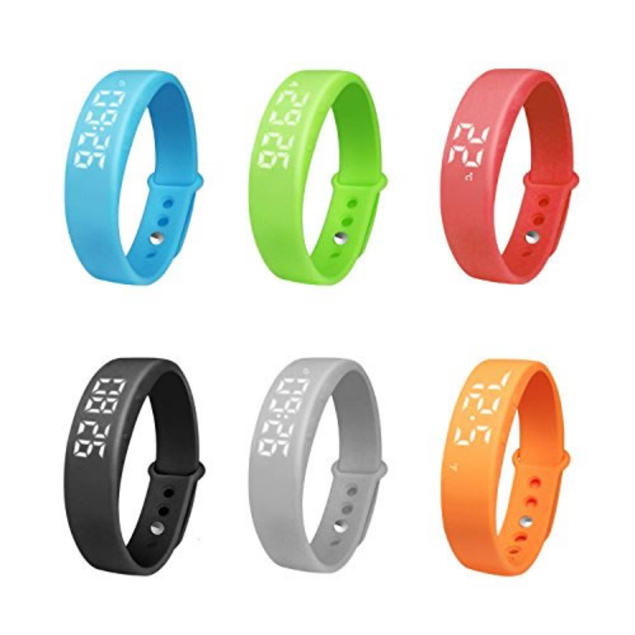 Smart-A-Rolla Simple Fitness Tracker Bracelet Style Watch And Pedometer Works w/o Smartphone - Sky Blue 562e4c4d503d6f3c498b45e3