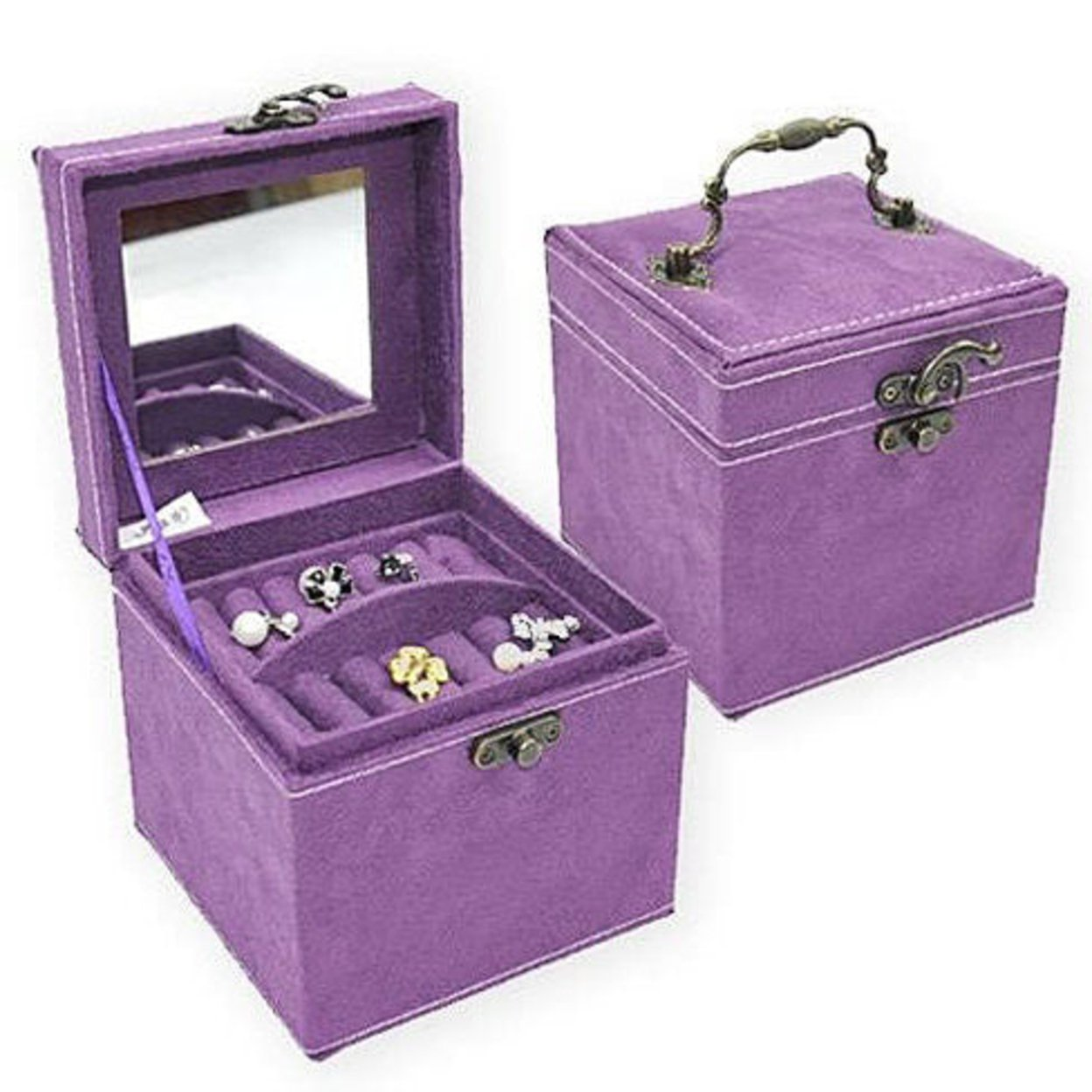 Soft Velour Ornate Jewel Box In Luscious Colors - Purple 5366dc1cc46da103760006a1
