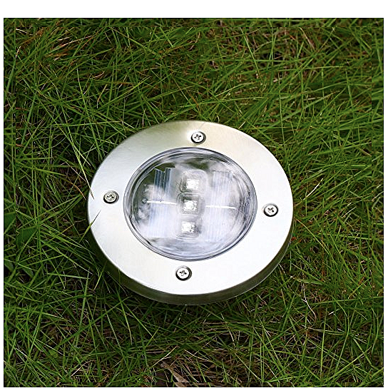 Buy triple led in ground solar path lights by vista shops for In ground walkway lights