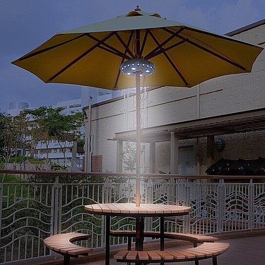 Beau UFO 360 Patio Umbrella Light With 28 LED Ring