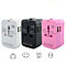 Worldwide Power Adapter and Travel Charger with Dual USB Ports in 3 Colors