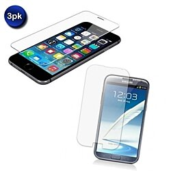 3-pack: Tempered Glass Screen Protector – All Phones Available