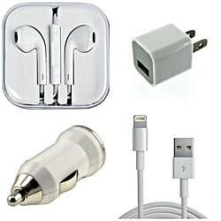 4 Piece Set: iPhone and Samsung Compatible Accessory Bundle Set