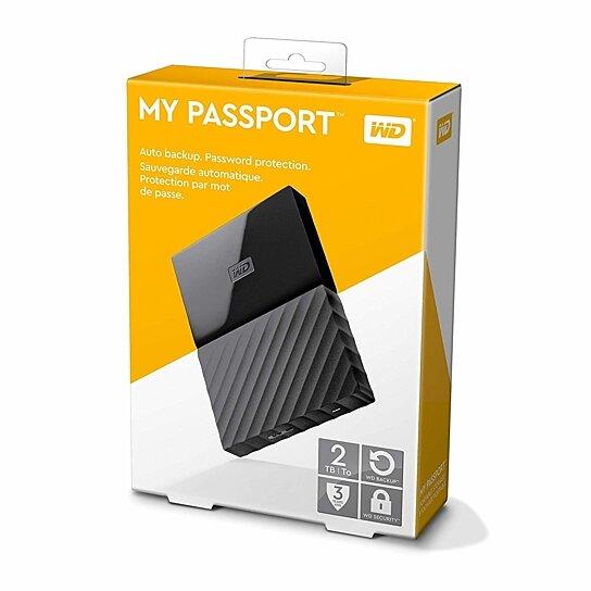 Buy Wd 2tb Black My Passport Portable External Hard Drive Usb 3 0 Wdbs4b0020bbk Wesn By Vital Deals On Opensky
