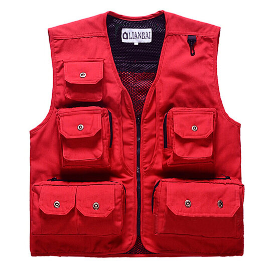 Buy unisex utility pockets canvas fishing vest by wantdo for Toddler fishing vest