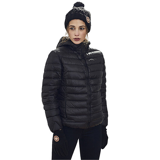 Buy Women's Hooded Packable Ultra Light Weight Short Down Jacket ...