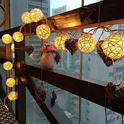 10 LED Color Rattan Ball String Fairy Lights For Xmas Wedding Party
