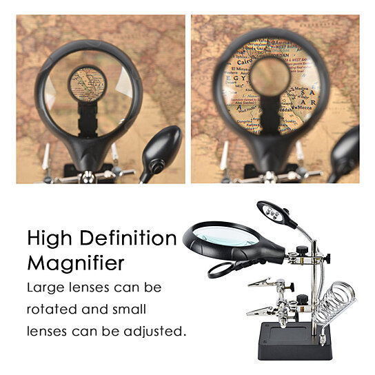 Buy 10X Magnifier Desk Lamp Repair Clamp Desktop ...