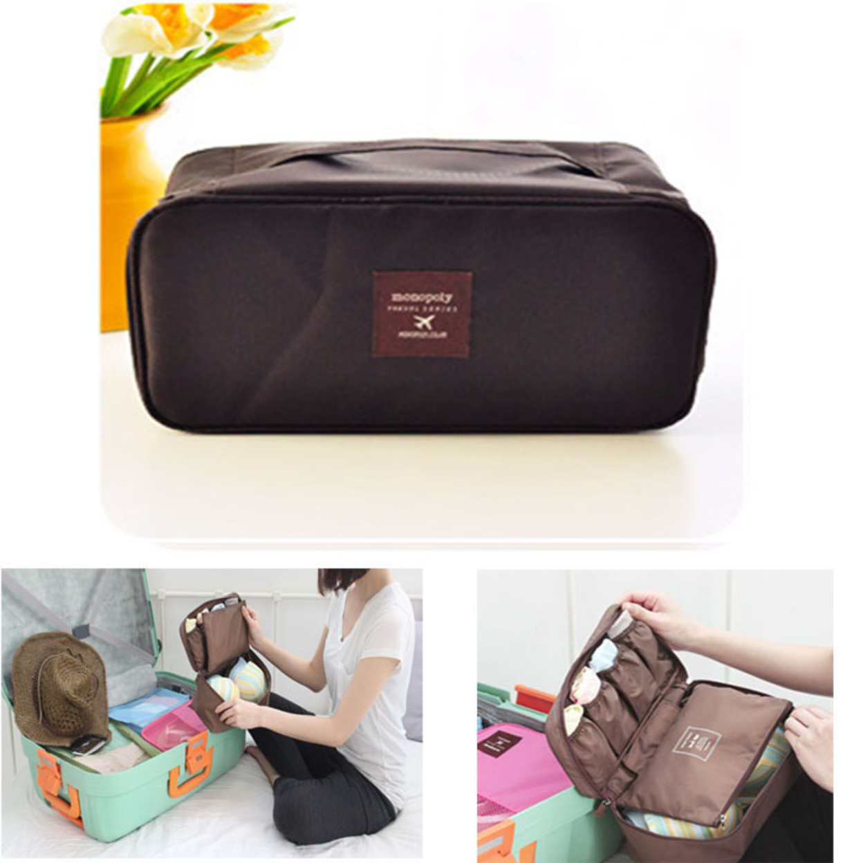 1pc Travel Cosmetic Make Up Holder Beauty Wash Bags Storage Purse