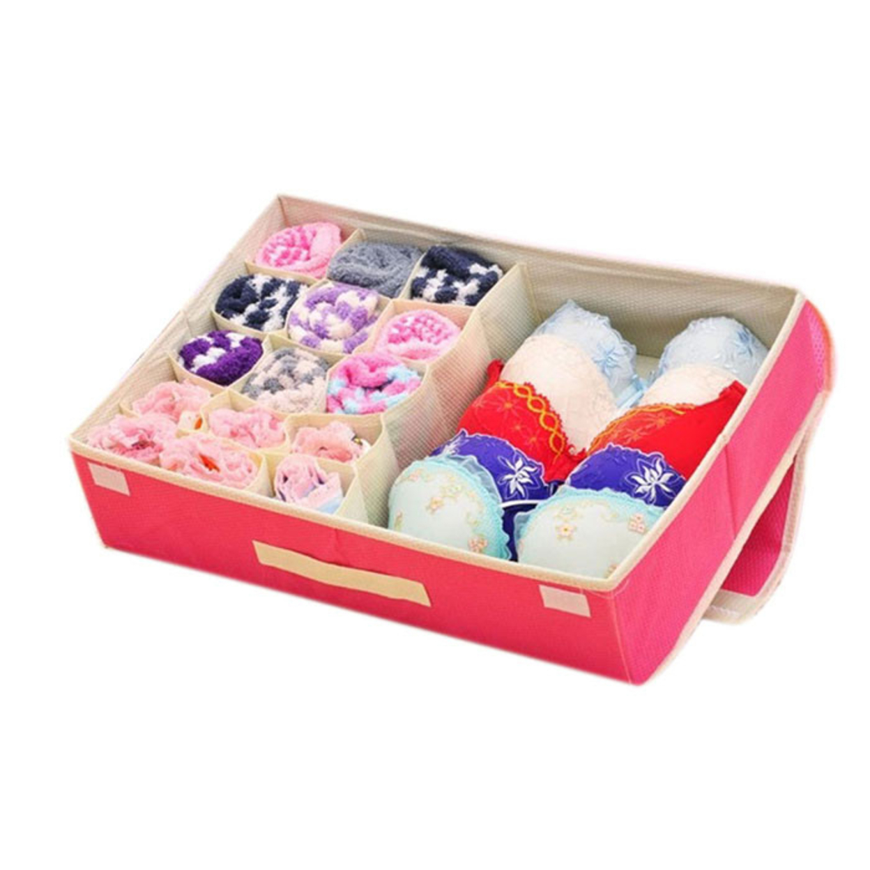 2015 Non-woven Two-in-one Storage Box For Underwear Bra Socks Ties Finishing Box