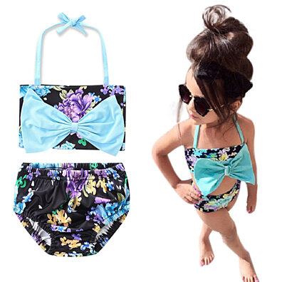 f4dd8e299 Infant Baby Girl Floral Swimsuit Swimwear Bathing Suit Bikini?Set Clothes  Outfit Blue