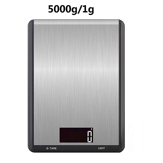 5kg//1g Kitchen Scale Electronic Food Weight Diet Digital Measuring Gram Accurate