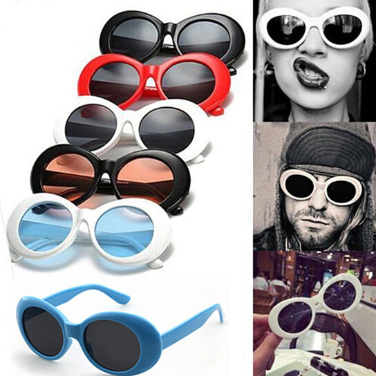 4085ee8fde503 Trending product! This item has been added to cart 4 times in the last 24  hours. Retro Vintage Clout Goggles Unisex Sunglasses Rapper Oval Shades  Grunge ...