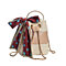 Women's Fashion Retro Woven Shoulder Bag Solid Color Scarf Woven Bag Beach Bag