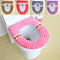 Thick warm waterproof magic button toilet rings